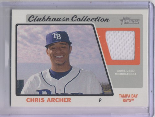 Photo of 2015 Topps Heritage Clubhouse Collection Relics #CCRCA Chris Archer