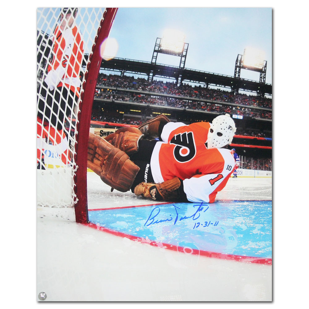 Bernie Parent (Philadelphia Flyers) Autographed 2012 NHL Winter Classic 16X20 Photo