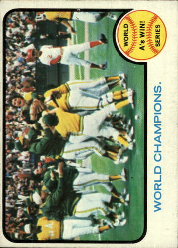 Photo of 1973 Topps #210 World Series Summary/World Champions/A's Win