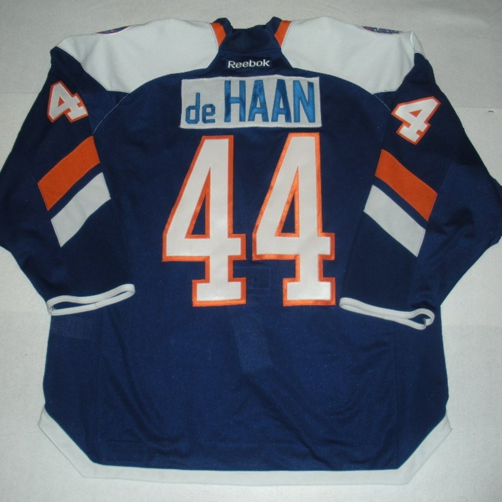 Calvin de Haan - 2014 Stadium Series - New York Islanders - Blue Game-Worn Jersey - Worn in First Period