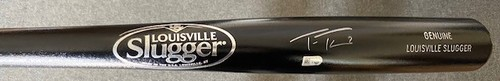 Photo of Trea Turner Autographed Black Louisville Slugger Bat