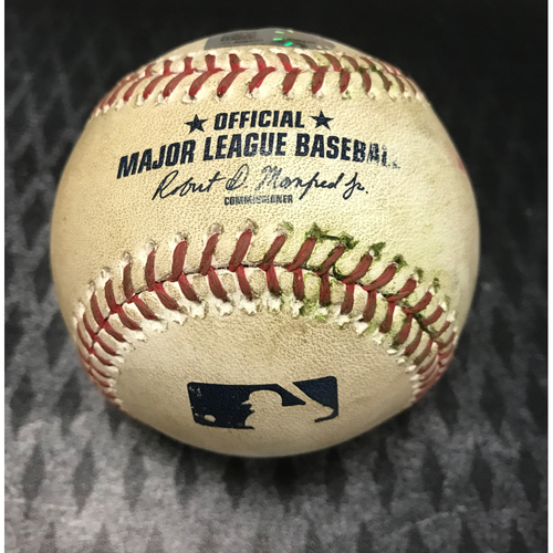 Photo of Game-Used Baseball - Yasmany Tomas vs. Josh Tomlin - RBI Double