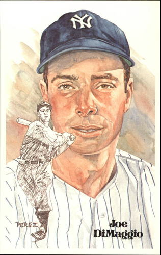 Photo of 1980-02 Perez-Steele Hall of Fame Postcards #75 Joe DiMaggio -- Set #08689