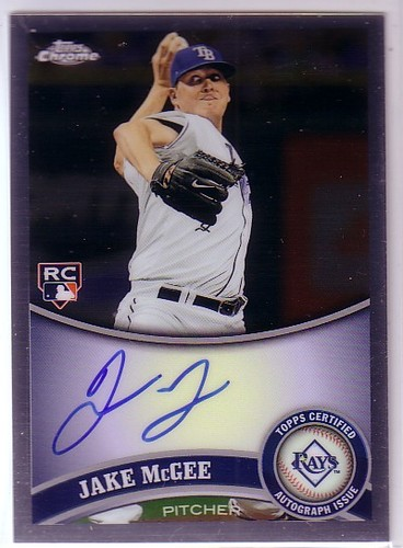 Photo of 2011 Topps Chrome Rookie Autographs #181 Jake McGee