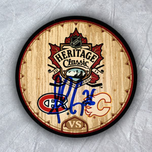 Josh Gorges Montreal Canadiens Autographed 2011 Heritage Classic Hockey Puck