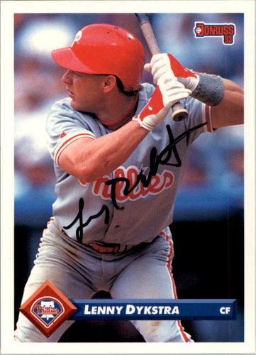 Photo of 2004 Donruss Timelines Recollection Autographs #434 Lenny Dykstra 93/32