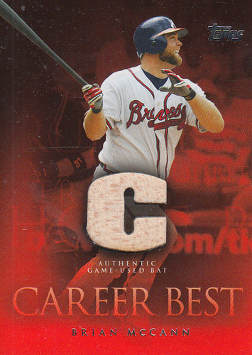 Photo of 2009 Topps Career Best Relics #BM Brian McCann Bat A1