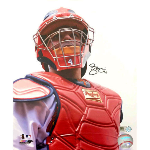 Cardinals Authentics: Yadier Molina Autographed Close-Up Photo