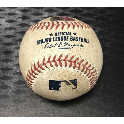 Photo of Game-Used Baseball - Buster Posey vs. Patrick Corbin - Error