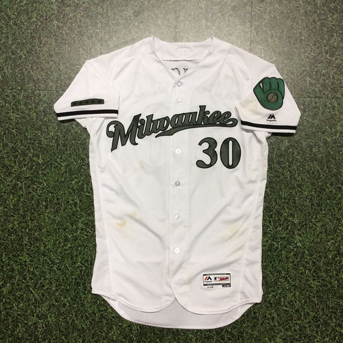 Photo of Craig Counsell Memorial Day Tribute Game-Used Jersey