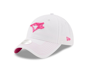 Youth Pop Preferred Pick White/Pink Adjustable Cap by New Era