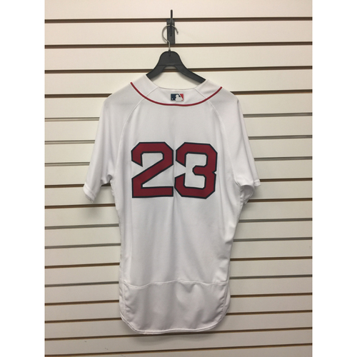 Photo of Blake Swihart Game-Used April 11, 2016 Home Jersey