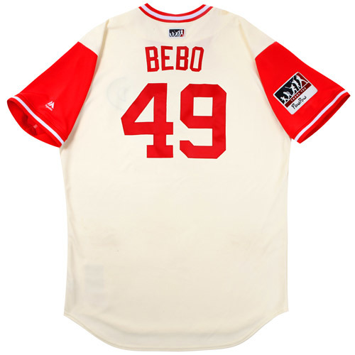 "Photo of Ben ""Bebo"" Lively Philadelphia Phillies Game-Used Players Weekend Jersey"