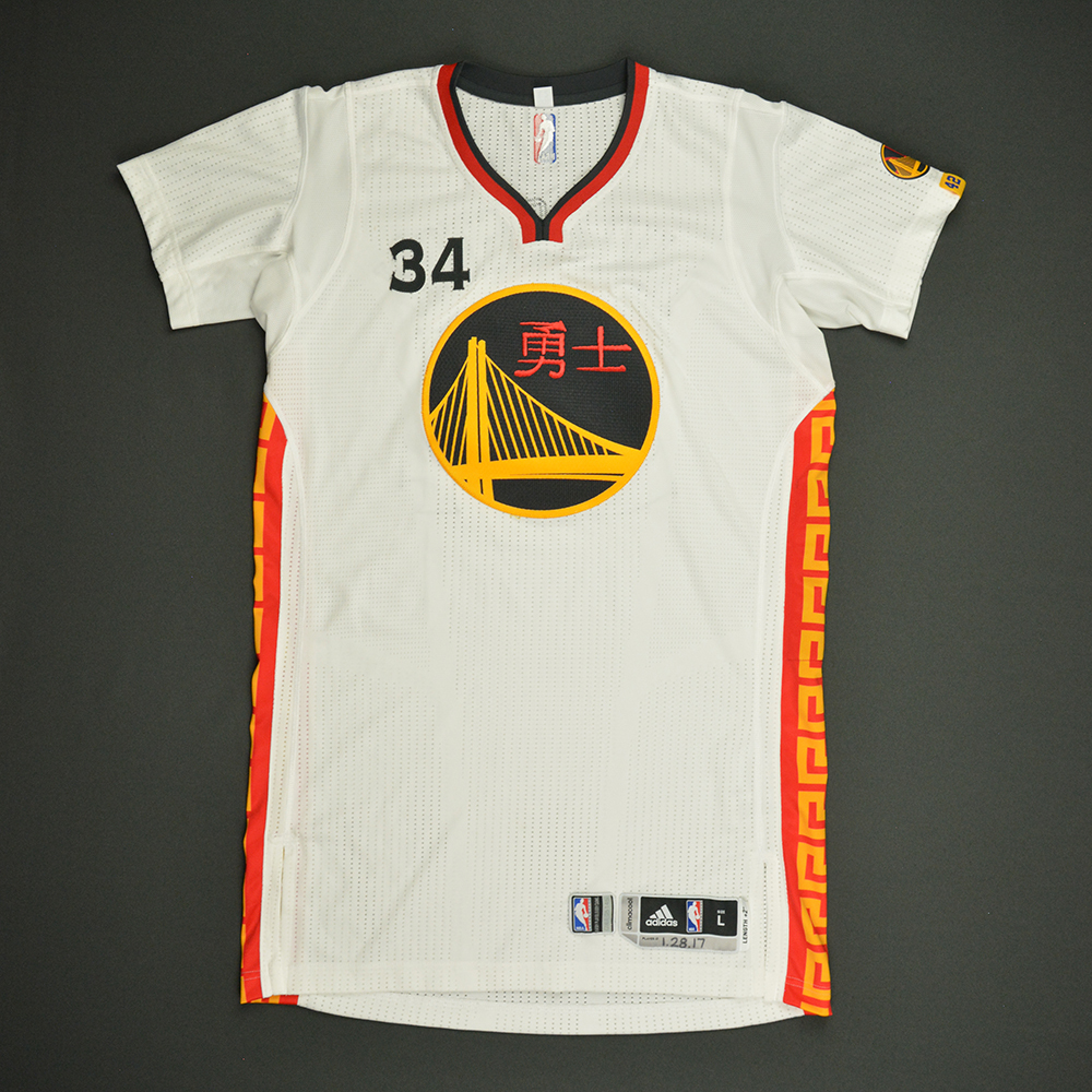 Shaun Livingston - Golden State Warriors - Game-Issued Chinese New Year Jersey - 2016-17 Season