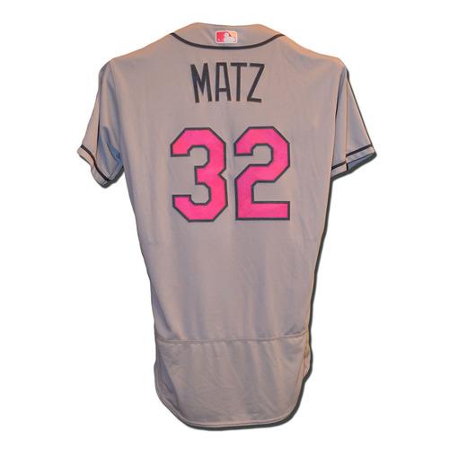 Steven Matz #32 - Team Issued Road Grey Mother's Day Jersey - 2017 Season