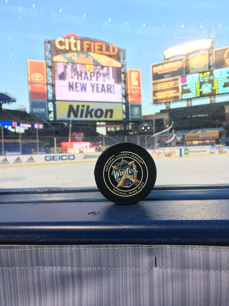 New York Rangers vs. Buffalo Sabres 2018 NHL Winter Classic Game-Used Puck - Used During Overtime