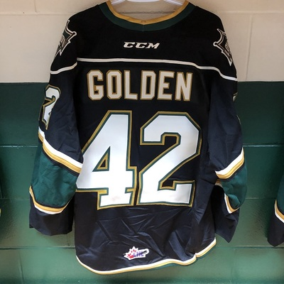Jacob Golden 2016-2017 Black Game Jersey