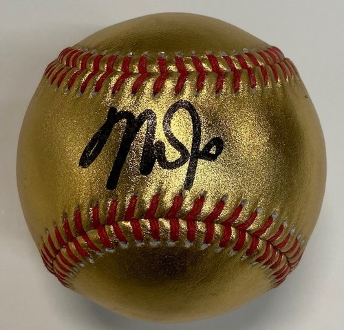Photo of Mike Trout Autographed 24 Karat Gold Baseball