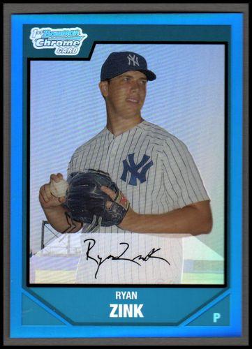 Photo of 2007 Bowman Chrome Draft Draft Picks Blue Refractors #BDPP9 Ryan Zink
