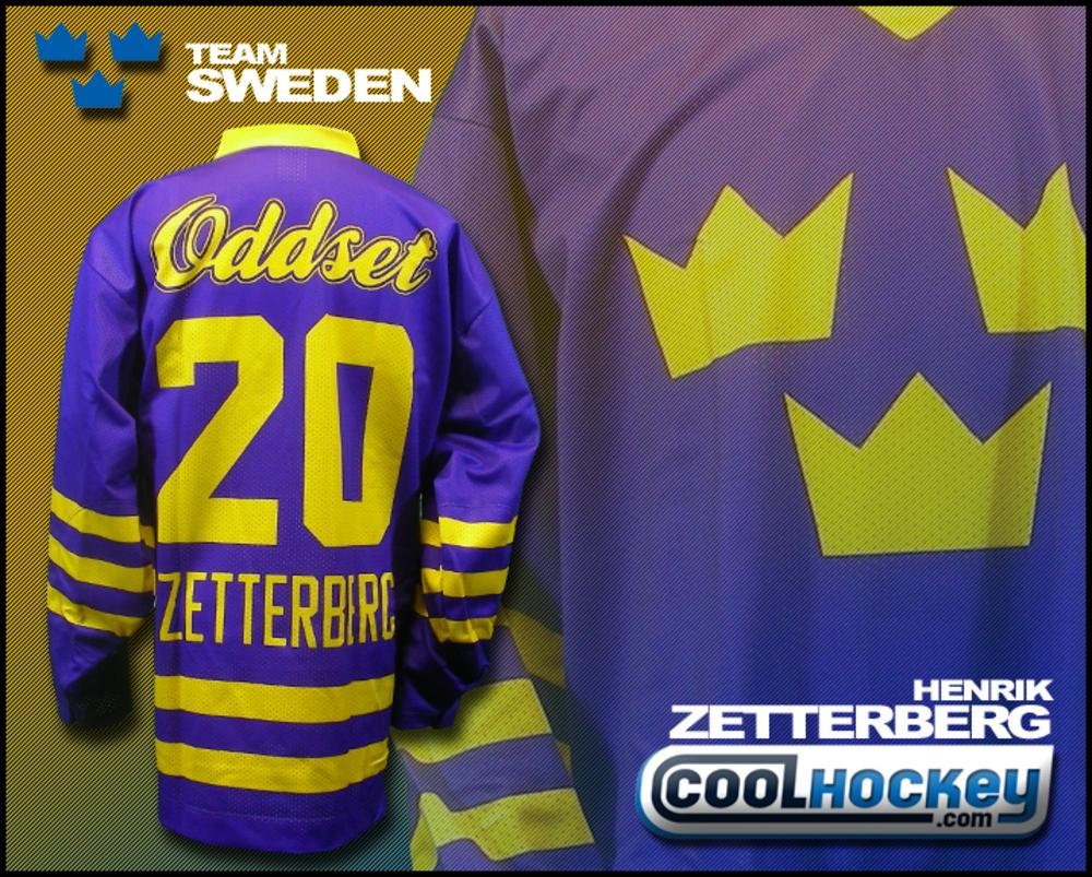 Henrik ZETTERBERG SWEDEN National Team Hockey Jersey (Detroit Red Wings)