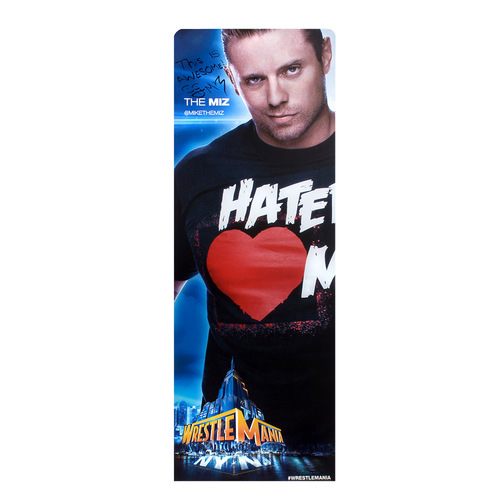 The Miz SIGNED WrestleMania 29 Superstore Wall Art