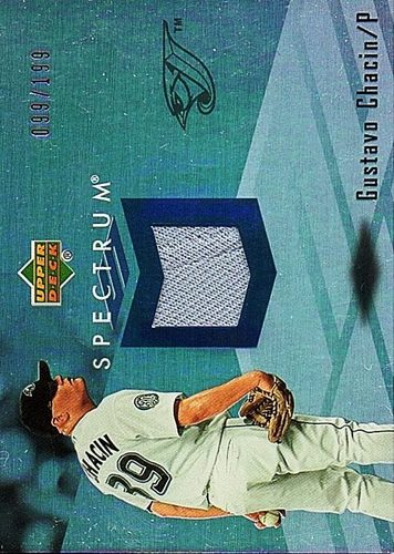 Photo of 2007 Upper Deck Spectrum Swatches #GC Gustavo Chacin Jersey /199