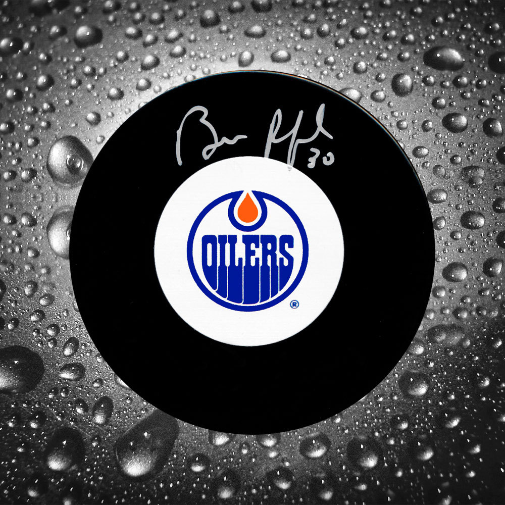 Bill Ranford Edmonton Oilers Autographed Puck