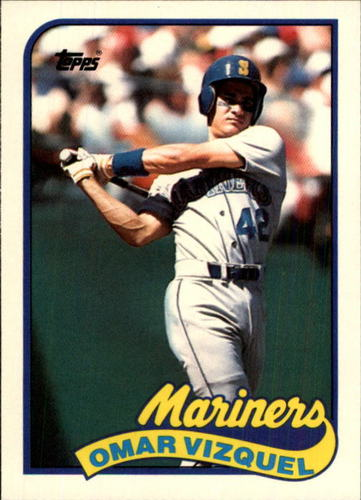 Photo of 1989 Topps Traded #122T Omar Vizquel -- Seattle Mariners rookie card