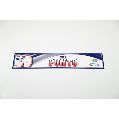 Photo of 2017 WBC Italy Game-Used Locker Tag: Nick Punto #1
