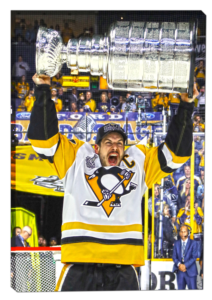 Sidney Crosby - 20x29 Canvas 2017 Stanley Cup