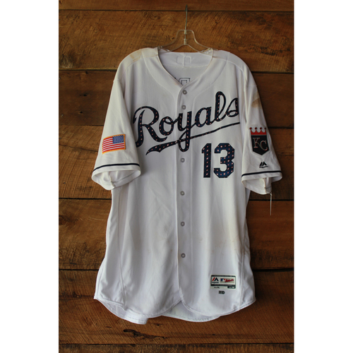 Photo of Salvador Perez Game-Used Jersey (7/1/17 MIN at KC) (Size 48)