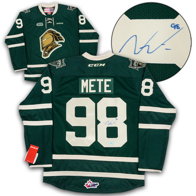 Victor Mete London Knights Autographed CHL CCM Premier Hockey Jersey