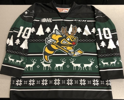 Anthony Salinitri Sarnia Sting game-ready 2018 Ugly Christmas Sweater jersey