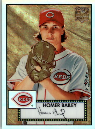 Photo of 2007 Topps 52 Chrome Refractors #63 Homer Bailey