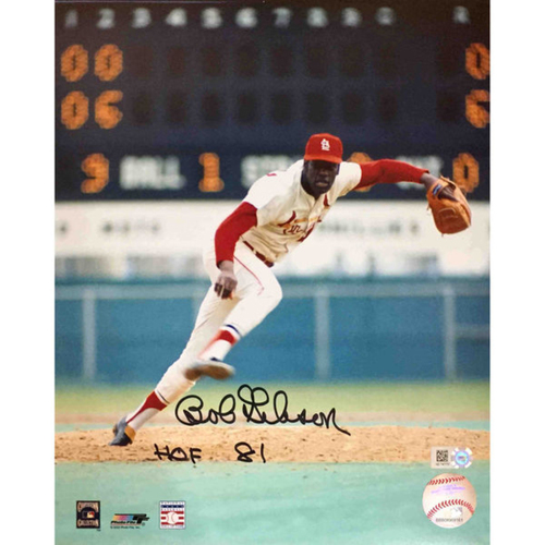 Photo of Cardinals Authentics: Bob Gibson Autographed Photo