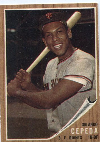 Photo of 1962 Topps #40 Orlando Cepeda -- Giants Hall of Famer