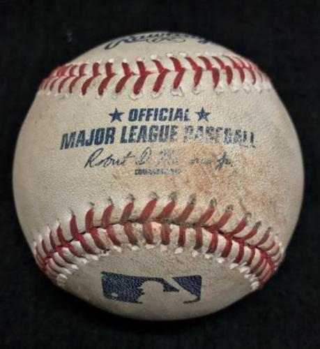 Photo of Game-Used Baseball from Pirates vs. Dodgers on 6/27/16 - Kazmir to McCutchen, Single
