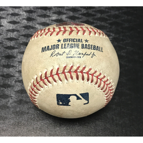 Photo of Game-Used Baseball - Brandon Drury Single & Chris Owings at bat vs. Cory Gearrin