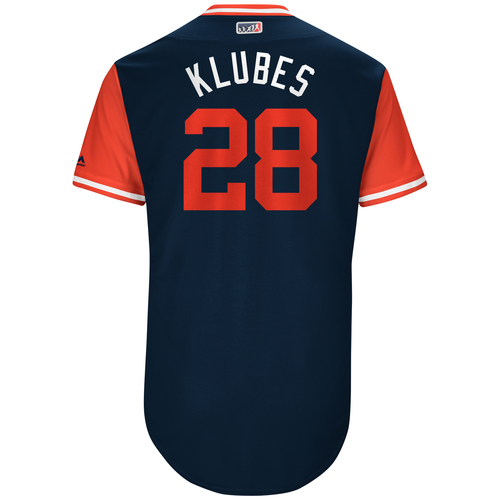 "Photo of Corey ""Klubes"" Kluber Cleveland Indians Team-Issued Players Weekend Jersey"