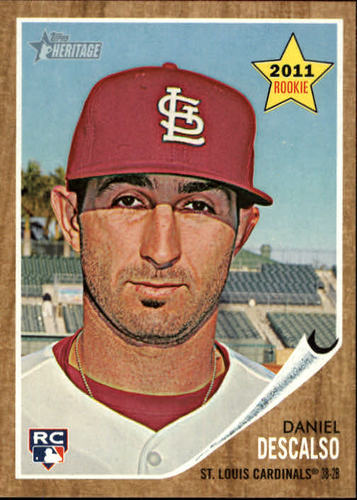 Photo of 2011 Topps Heritage #299 Daniel Descalso Rookie Card -- D'backs post-season