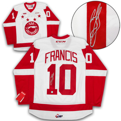 Ron Francis Sault Ste. Greyhounds Autographed CHL CCM Premier Hockey Jersey