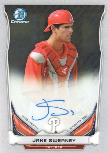 Photo of 2014 Bowman Chrome Prospect Autographs #BCAPJSW Jake Sweaney