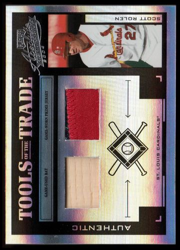 Photo of 2004 Absolute Memorabilia Tools of the Trade Material Combo PS #135 S.Rolen Bat-Jsy/25