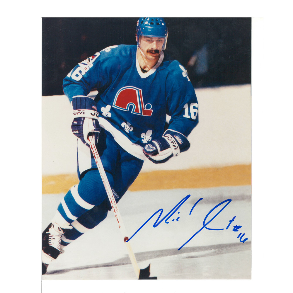 MICHEL GOULET Signed Quebec Nordiques 8 X 10 Photo - 70043