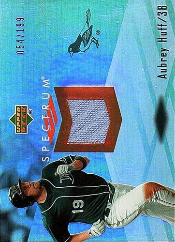 Photo of 2007 Upper Deck Spectrum Swatches #HU Aubrey Huff Jersey /199
