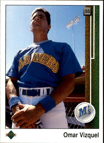 Photo of 1989 Upper Deck #787 Omar Vizquel -- Seattle Mariners rookie card