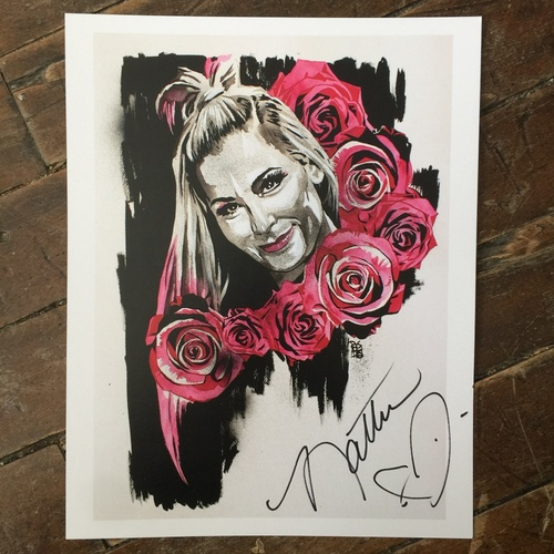 Natalya SIGNED 11 x 14 Rob Schamberger Print