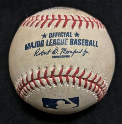 Photo of Game-Used Baseball from Pirates vs. Phillies on 7/22/16 - Eflin to Harrison, Single