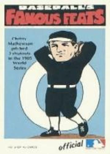 Photo of 1972 Fleer Famous Feats #3 Christy Mathewson
