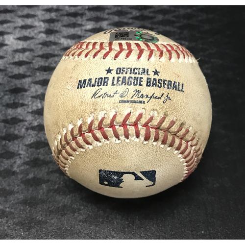 Photo of Game-Used Baseball - Paul Goldschmidt RBI Double & Jake Lamb Foul vs. Josh Tomlin